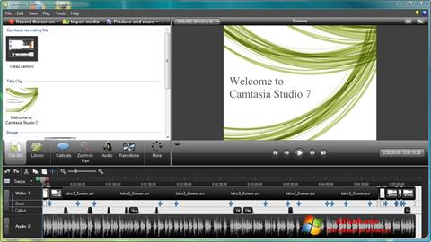 Capture d'écran Camtasia Studio pour Windows 7