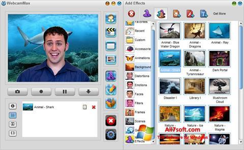 Capture d'écran WebcamMax pour Windows 7