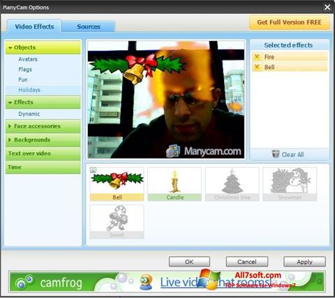 Capture d'écran ManyCam pour Windows 7