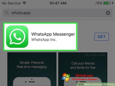 Capture d'écran WhatsApp pour Windows 7