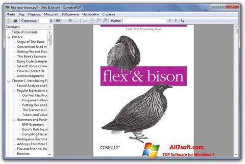 Capture d'écran Sumatra PDF pour Windows 7