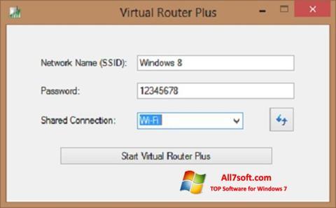 Capture d'écran Virtual Router Plus pour Windows 7