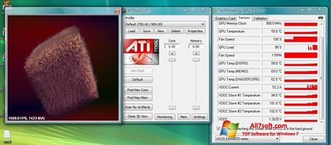 Capture d'écran ATITool pour Windows 7