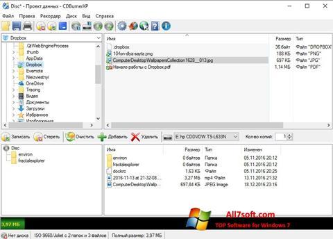 Capture d'écran CDBurnerXP pour Windows 7