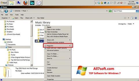 Capture d'écran MagicISO pour Windows 7