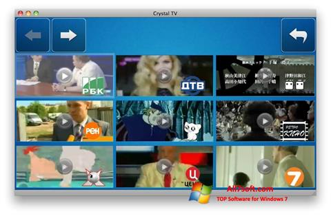 Capture d'écran Crystal TV pour Windows 7