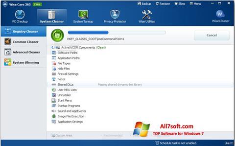 Capture d'écran Wise Care 365 pour Windows 7