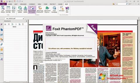 Capture d'écran Foxit Phantom pour Windows 7
