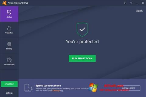 Capture d'écran Avast Free Antivirus pour Windows 7