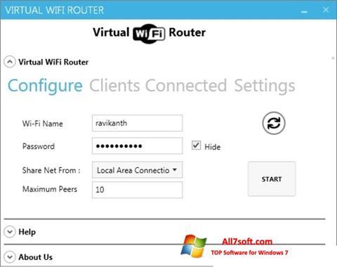 Capture d'écran Virtual WiFi Router pour Windows 7