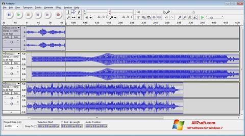 Capture d'écran Audacity pour Windows 7