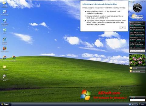 Capture d'écran Google Desktop pour Windows 7