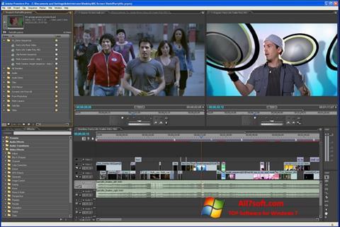 Capture d'écran Adobe Premiere Pro pour Windows 7