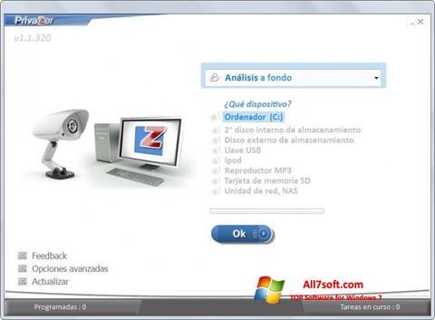 Capture d'écran PrivaZer pour Windows 7