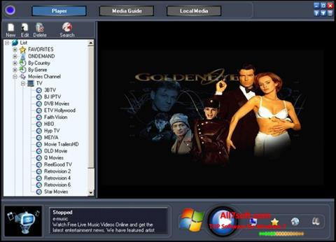Capture d'écran Online TV Live pour Windows 7