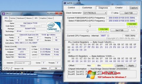 Capture d'écran SetFSB pour Windows 7