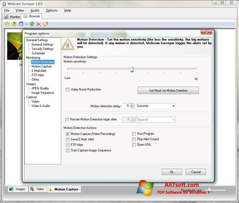 Capture d'écran Webcam Surveyor pour Windows 7