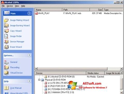 Capture d'écran Alcohol 120% pour Windows 7