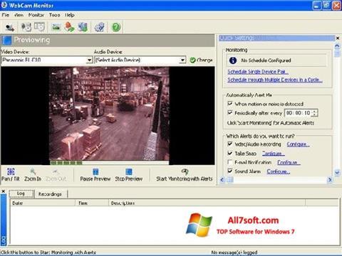 Capture d'écran WebCam Monitor pour Windows 7