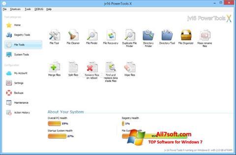 Capture d'écran jv16 PowerTools pour Windows 7
