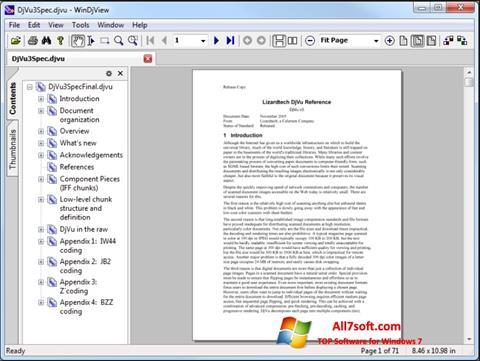 Capture d'écran WinDjView pour Windows 7