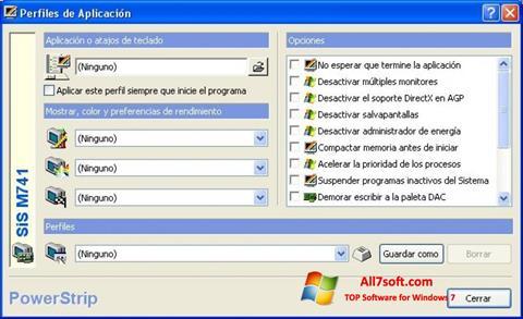 Capture d'écran PowerStrip pour Windows 7