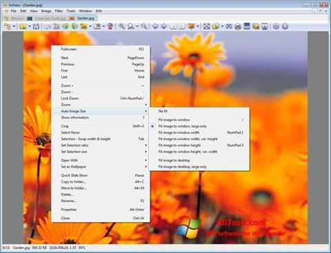 Capture d'écran XnView pour Windows 7