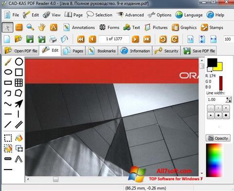 Capture d'écran PDF Reader pour Windows 7