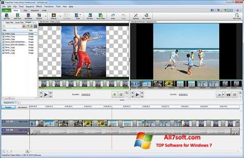Capture d'écran VideoPad Video Editor pour Windows 7