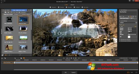 Capture d'écran Pinnacle Studio pour Windows 7