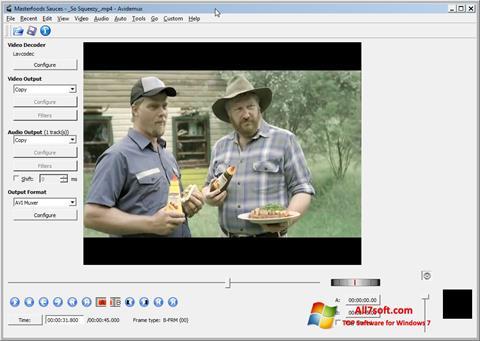 Capture d'écran Avidemux pour Windows 7
