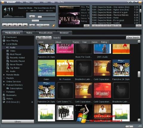 Capture d'écran Winamp pour Windows 7