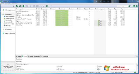 Capture d'écran uTorrent pour Windows 7