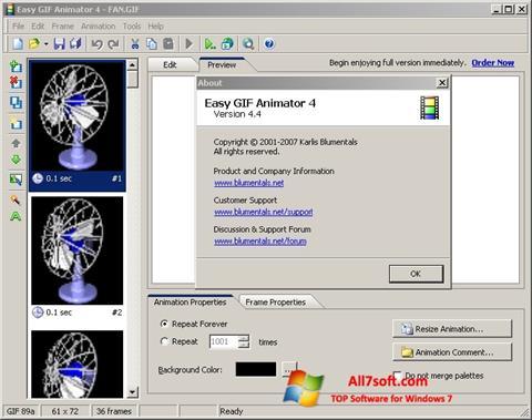 Capture d'écran Easy GIF Animator pour Windows 7