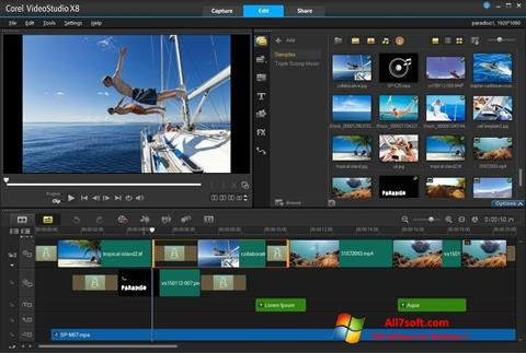 Capture d'écran Corel VideoStudio pour Windows 7