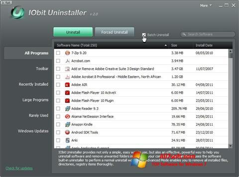 Capture d'écran IObit Uninstaller pour Windows 7