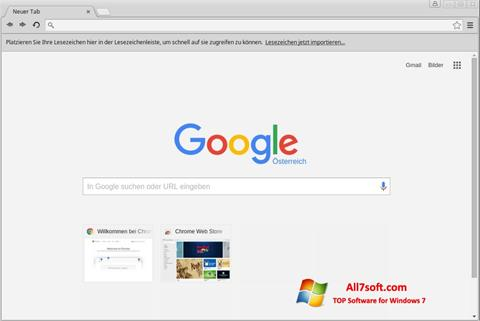 Capture d'écran Google Chrome pour Windows 7