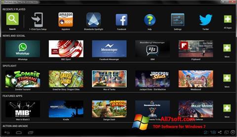 Capture d'écran BlueStacks pour Windows 7