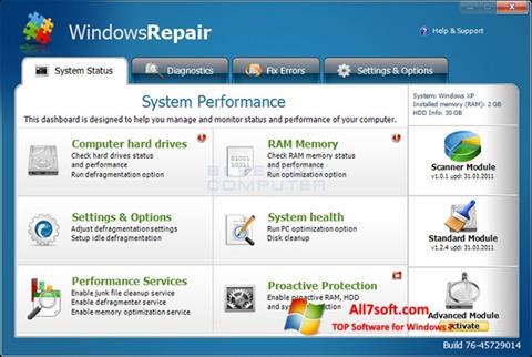 Capture d'écran Windows Repair pour Windows 7