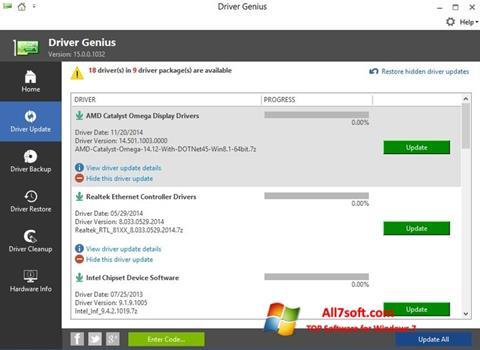 Capture d'écran Driver Genius pour Windows 7