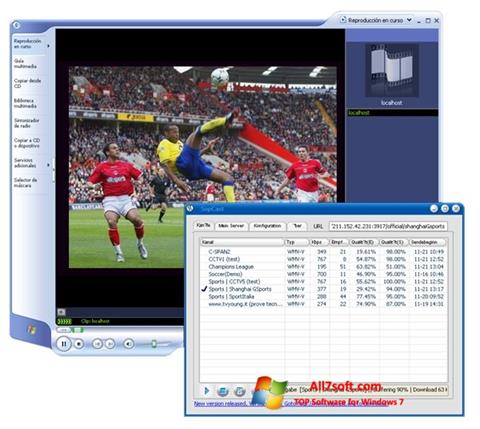 Capture d'écran SopCast pour Windows 7