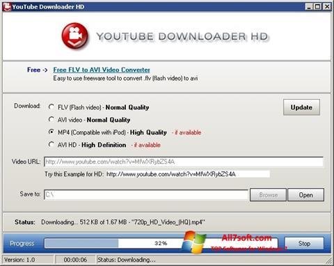 Capture d'écran Youtube Downloader HD pour Windows 7