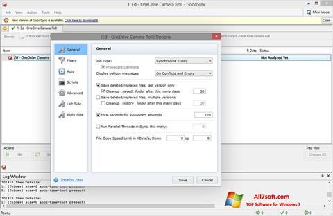 Capture d'écran GoodSync pour Windows 7