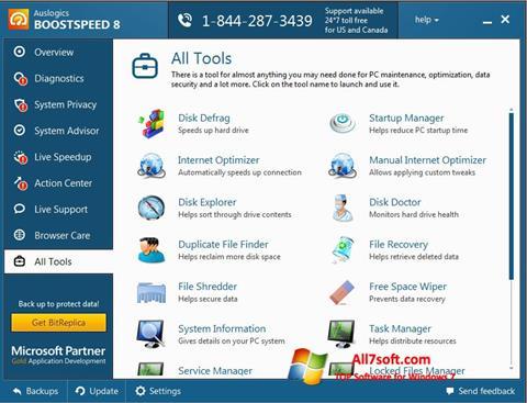 Capture d'écran Auslogics BoostSpeed pour Windows 7