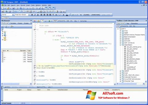 Capture d'écran phpDesigner pour Windows 7