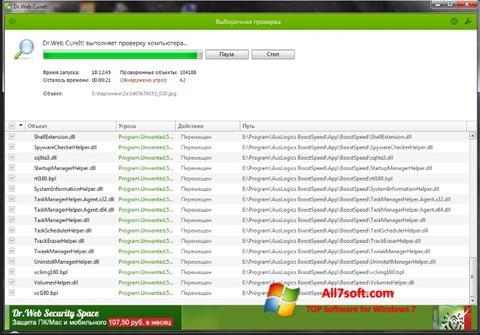 Capture d'écran Dr.Web pour Windows 7