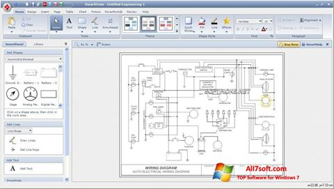 Capture d'écran SmartDraw pour Windows 7