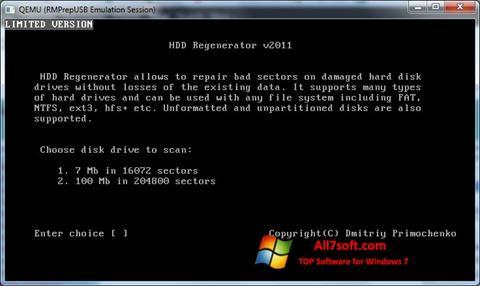 Capture d'écran HDD Regenerator pour Windows 7