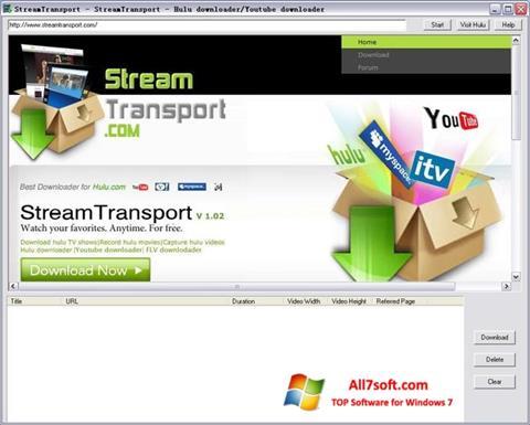 Capture d'écran StreamTransport pour Windows 7